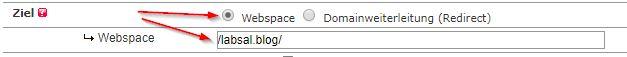 Domain mit dem richtigen Ordner mappen