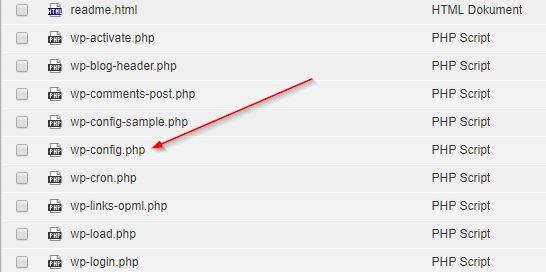 WP Config per FTP bearbeiten