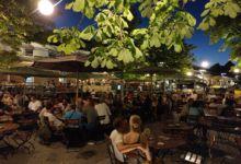 """In unserem """"Stammbiergarten"""" in Konstanz waren wir an allen drei Aufenthalten in Konstanz"""